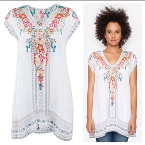 Johnny Was }{ 'Letty' Boho Embroidered Tunic